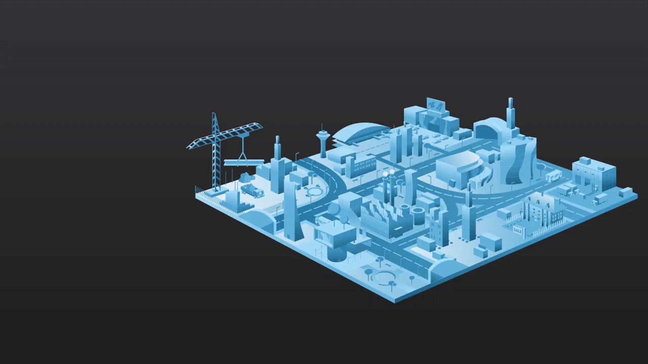 3D model van industriegebied