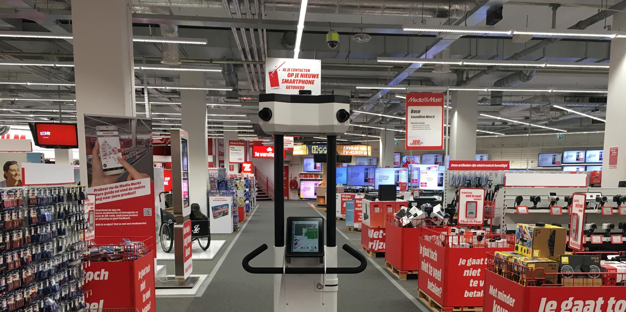 3D-scan trolley in de Mediamarkt