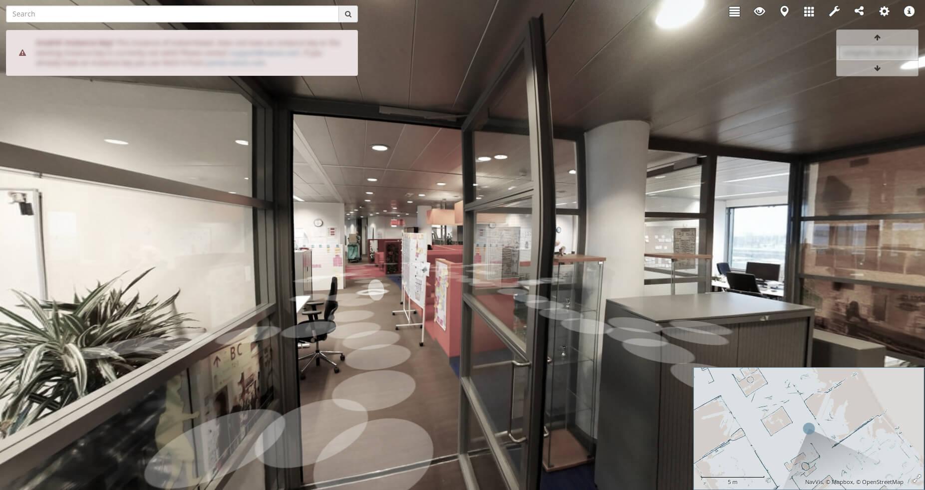 Indoorviewer navigatie