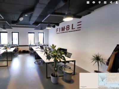 Fimble kantoor met digitale plattegrond