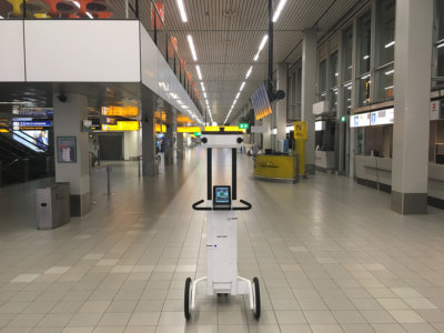 3D Trolley Scan nieuwe terminal schiphol